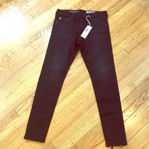 NWT AG black skinny jeans - sz 28